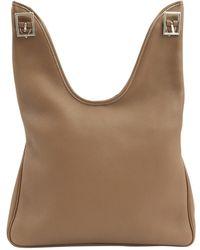 Hermès - Massaï Brown Leather Handbag - Lyst