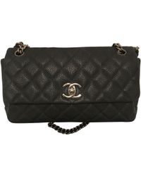 8b4ab39e9716 Chanel - Pre-owned Blue Leather Handbags - Lyst