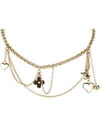 Louis Vuitton - Pre-owned Monogram Necklace - Lyst