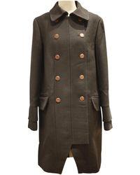 Chloé - Pre-owned Black Wool Coat - Lyst