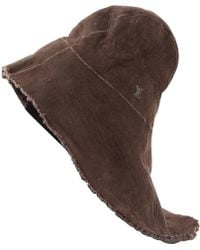 Louis Vuitton - Leather Hat - Lyst
