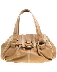 BVLGARI - Pre-owned Brown Leather Handbags - Lyst