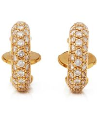 Cartier - Pre-owned Yellow Gold Earrings - Lyst
