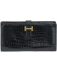 Hermès - Béarn Crocodile Card Wallet - Lyst