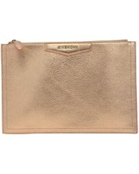 Givenchy - Antigona Pink Leather Clutch Bag - Lyst