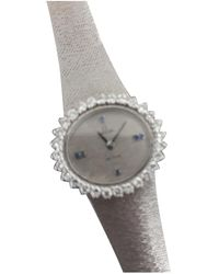 Omega - Pre-owned De Ville White Gold Watch - Lyst
