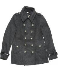 Burberry - Wool Coat - Lyst