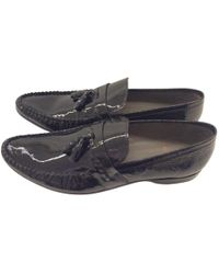 Etro - Black Leather Flats - Lyst