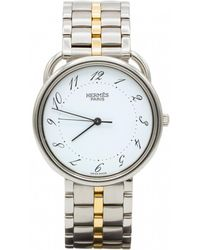 Hermès - Pre-owned Arceau Silver Steel Watches - Lyst