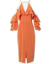 Cushnie et Ochs Orange Silk Dress