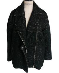 IRO - Pre-owned Black Wool Coats - Lyst