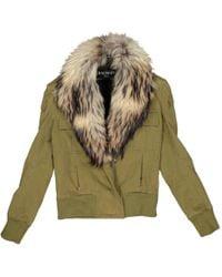 f5bba0de Camo Chainlink Military Jacket. $2,195. Moda Operandi. Balmain - Short Vest  - Lyst
