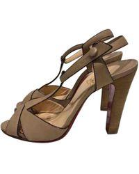Christian Louboutin - Leather Heels - Lyst
