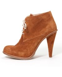 Opening Ceremony - Camel Suede Ankle Boot - Lyst