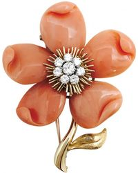 Van Cleef & Arpels - Fleurs Yellow Gold Pin & Brooche - Lyst