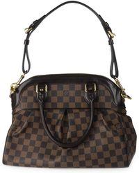 Louis Vuitton - Trevi Brown Cloth Handbag - Lyst