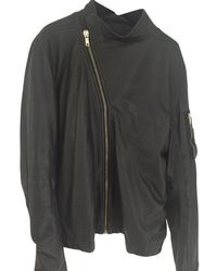 Rick Owens - Pre-owned Leather Jacket - Lyst