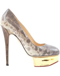 Charlotte Olympia - Leather Heels - Lyst