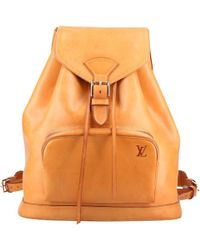 Louis Vuitton - Montsouris Leather Backpack - Lyst