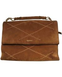 Lanvin - Pre-owned Sugar Camel Suede Handbags - Lyst
