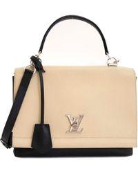 696735f413dd Lyst - Louis Vuitton Lockme White Leather Handbag in White
