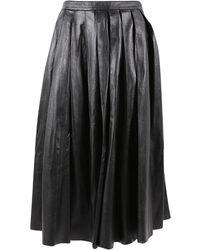 BLK DNM - Jupe mi-longue en cuir - Lyst
