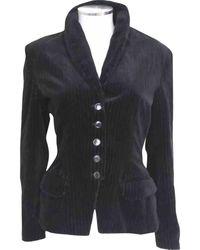 Alaïa - Black Cotton Jacket - Lyst