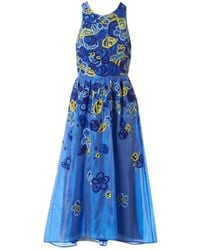 Matthew Williamson Blue Silk Dress