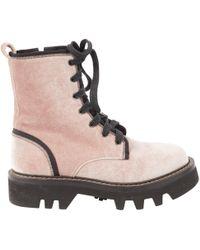 Brunello Cucinelli - Pink Velvet Boot - Lyst