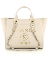 Chanel - Deauville Brown Leather Handbag - Lyst