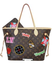 Louis Vuitton - Neverfull Brown Synthetic Handbag - Lyst