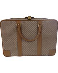 Céline - Vintage Beige Leather Travel Bag - Lyst