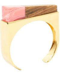 Stella McCartney - Gold Metal Bracelet - Lyst