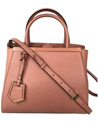 a57ca2be8c43 Fendi - 2jours Pink Leather Handbag - Lyst