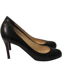 Christian Louboutin - Pre-owned Simple Pump Leather Heels - Lyst