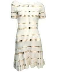 10bc9b8794 Sandro  Replay  Knit Hem Dress in White - Lyst