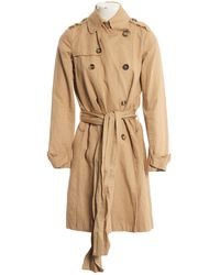 JOSEPH - Beige Cotton Trench Coat - Lyst