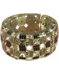 Chanel - Silver Plastic Bracelets - Lyst