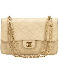 Chanel - Vintage Timeless/classique Brown Leather Handbag - Lyst