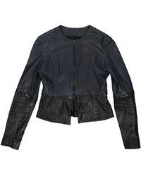 34f716b0941 Christopher Kane Women's Leather Biker Jacket With Zip-off Hem in ...
