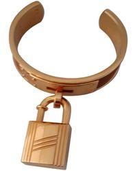 Hermès - Pre-owned Vintage Kelly Brown Silver Gilt Bracelets - Lyst