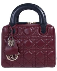 Dior - Lady Leather Handbag - Lyst