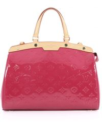 Louis Vuitton - Bréa Patent Leather Handbag - Lyst
