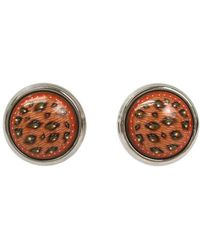 Hermès - Boucles D'oreilles Email Multicolour Metal Earrings - Lyst