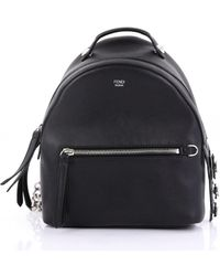 c6fb1b5f26 Lyst - Fendi By The Way Mini Leather Backpack in Black