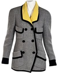 Chanel - Vintage Grey Tweed Jacket - Lyst