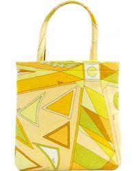Emilio Pucci - Yellow Cotton Handbag - Lyst