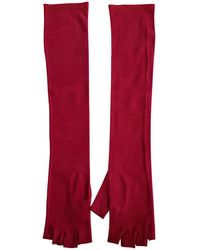 Chanel - Pre-owned Red Synthetic Gloves - Lyst
