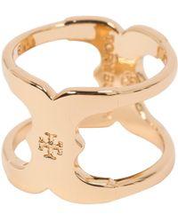 Tory Burch - Gold Metal Ring - Lyst