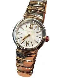 BVLGARI - White Gold And Steel Watches - Lyst